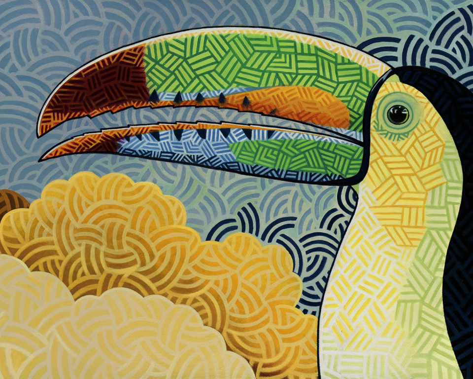 Keel-billed Toucan - Art by Nathan Miller