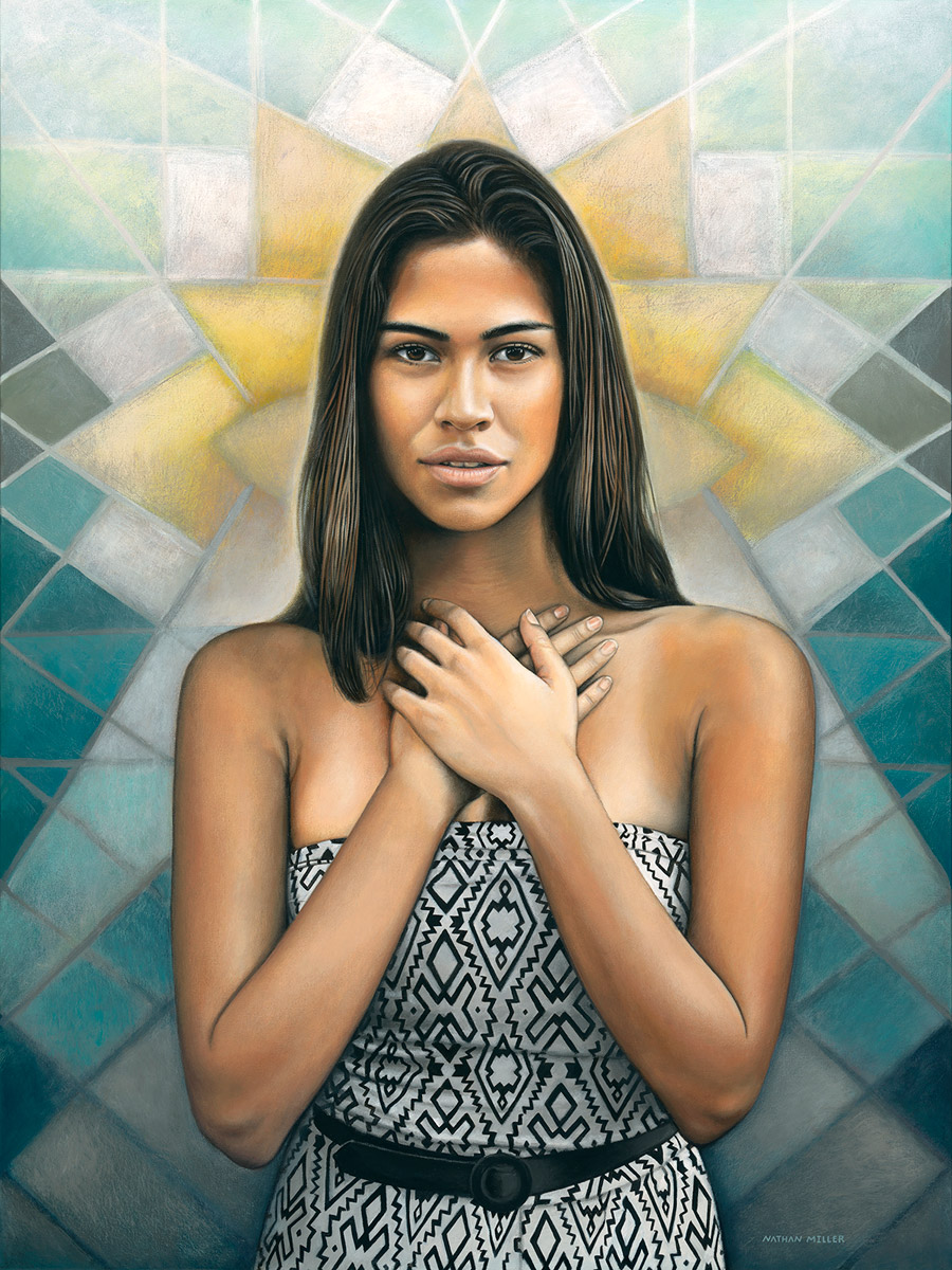 Portrait of a Young Woman - Art by Nathan Miller