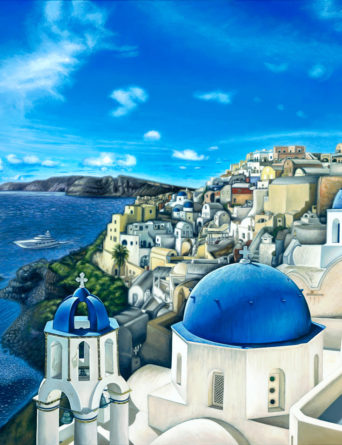 Santorini Painting - Art by Nathan Miller