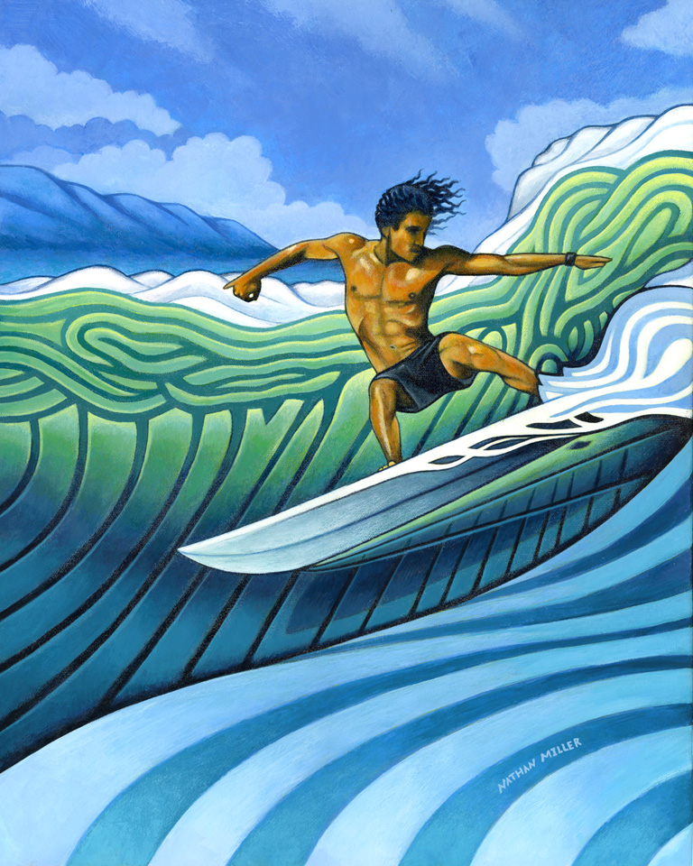 Tico Surfer - Art by Nathan Miller