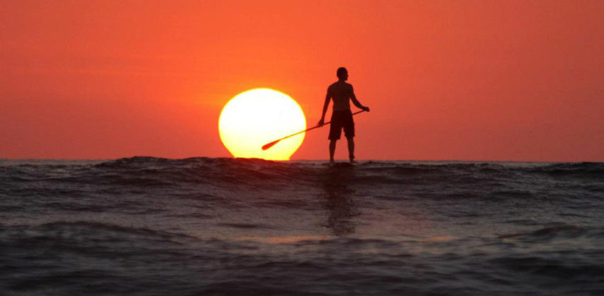 Paddle board Sunset
