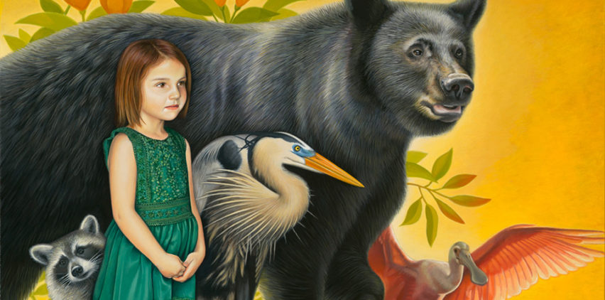 Florida Black Bear Painting - Art by Nathan Miller