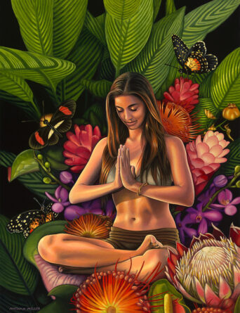 Namaste - Art by Nathan Miller