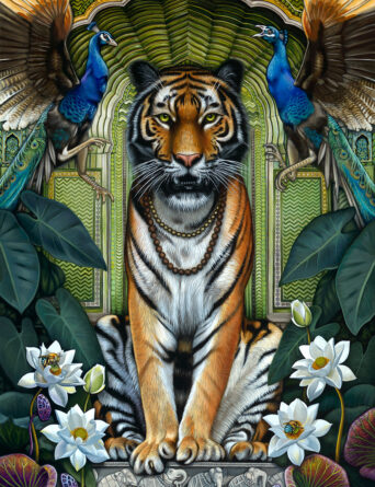 Tiger Painting - The Tale of Waghoba by Nathan Miller