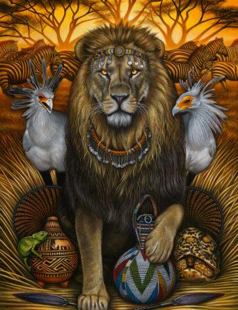 Kingdom of the Savanna Warrior - Art by Nathan Miller